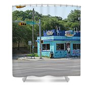Austin Texas Congress Street Shop Shower Curtain