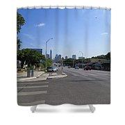 Austin Texas Congress Street View Shower Curtain