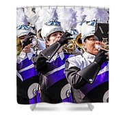 Austin Texas - Marching Band Celebrate Shower Curtain
