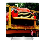 Austin Texas - Maria's Taco Express - Luther Fine Art Shower Curtain