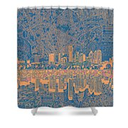 Austin Texas Skyline 2 Shower Curtain