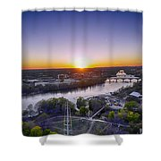 Austin Texas Sunset Hour Shower Curtain