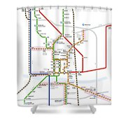 Austin Texas Transit System Shower Curtain