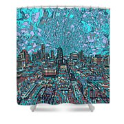 Austin Texas Vintage Panorama 4 Shower Curtain