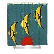 Australia Vintage Travel Poster Shower Curtain