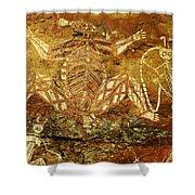 Australia Ancient Aboriginal Art 1 Shower Curtain