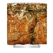 Australia Ancient Aboriginal Art 2 Shower Curtain