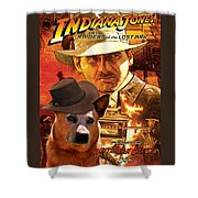 Australian Cattle Dog Art Canvas Print - Indiana Jones Movie Poster Shower Curtain
