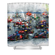 Australian Grand Prix F1 2012 Shower Curtain