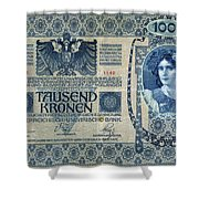 Austria Banknote, 1902 Shower Curtain