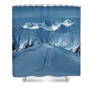 Austria Mountain Ischgl Shower Curtain