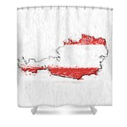 Austria Painted Flag Map Shower Curtain