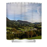 Austrian Autumn Scenic Panorama 2 Shower Curtain