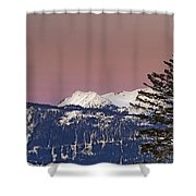 Austrian Winter Scenic Panorama Shower Curtain