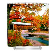 Authentic Covered Bridge Vt Shower Curtain