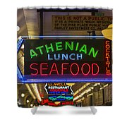 Authentic Lunch Seafood Shower Curtain
