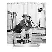 Author Booth Tarkington Shower Curtain