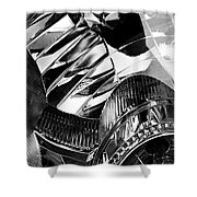 Auto Headlight 162 Shower Curtain by Sarah Loft