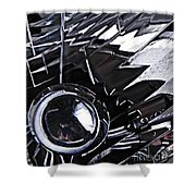 Auto Headlight 65 Shower Curtain