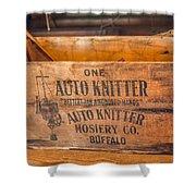Auto Knitter Box Shower Curtain