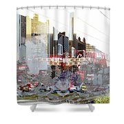 Autodienst Frankfurt Main Shower Curtain
