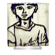 Autographed Drawing Shower Curtain