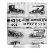 Automobile Ad, 1905 Shower Curtain