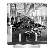 Automobile Display, 1904 Shower Curtain