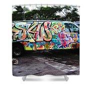 Automotion Van  Shower Curtain