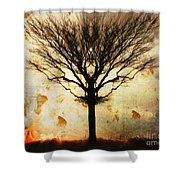 Autum Wind Shower Curtain