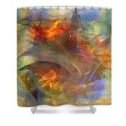 Autumn Ablaze - Square Version Shower Curtain