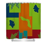 Autumn Abstract A La Matisse Shower Curtain