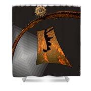Autumn Abstract Shower Curtain