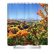 Autumn Across The Hills Shower Curtain
