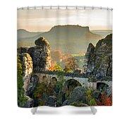 Autumn Afternoon On The Bastei Bridge Shower Curtain