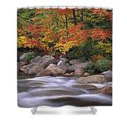 Autumn Along Swift River  Shower Curtain