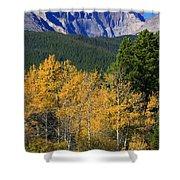 Autumn Aspens And Longs Peak Shower Curtain