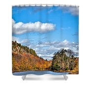 Autumn At Bald Mountain Pond Shower Curtain