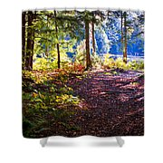 Autumn At Cary Lake Shower Curtain