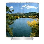 Autumn At Lynx Lake Shower Curtain by Kurt Van Wagner