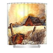 Autumn On The Farm Shower Curtain