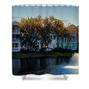 Autumn At Old Key West Resort Panorama Walt Disney World Shower Curtain