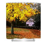 Autumn At Old Mill Shower Curtain