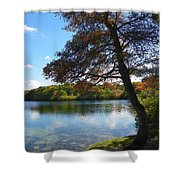Autumn At Slough Pond Shower Curtain