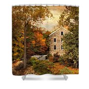 Autumn At Stone Mill Shower Curtain