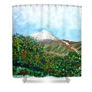 Autumn At The Foot Of Mount Elbrus Shower Curtain