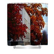 Autumn At The Grants Pass Courthouse Shower Curtain