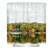 Autumn At The Lake - Pocono Mountains Shower Curtain by Vivienne Gucwa