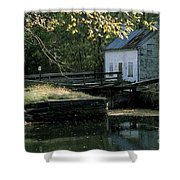 Autumn At The Lockhouse Shower Curtain