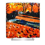 Autumn At The Park. Shower Curtain